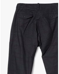 Wings + Horns - Black Camo Slub Herringbone Pants for Men - Lyst