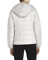 Kenneth Cole | White Lightweight Zigzag-Quilted Jacket | Lyst