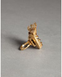 Dolce & Gabbana - Metallic Heart Crown Ring - Lyst