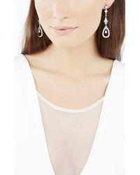 BCBGMAXAZRIA | White Stone Drop Earrings | Lyst