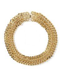 Banana Republic | Metallic Rattan Link Necklace | Lyst