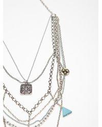 Free People - Metallic Multi Charm Rosary - Lyst
