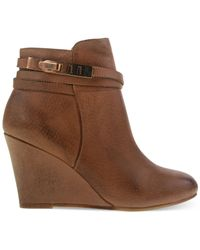 Chinese Laundry - Brown Unleash Wedge Booties - Lyst