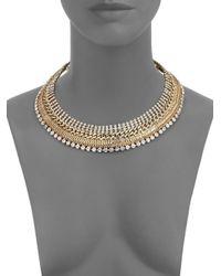 ABS By Allen Schwartz | Metallic Bitter Not Sweet Multi-chain Collar Necklace | Lyst
