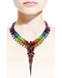 Stephen Webster | Multicolor Rainbow Feather Collar Necklace | Lyst