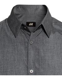 H&M - Gray Shirt Easy Iron for Men - Lyst