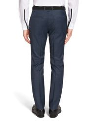 HUGO - Blue Extra-slim-fit Trousers In New-wool Blend: 'heibo3' for Men - Lyst