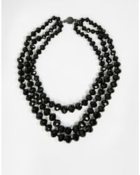Ted Baker - Black 3 Row Bead Choker Necklace - Lyst