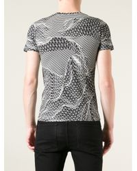 Christopher Kane - Black Contour Map Print Tshirt for Men - Lyst