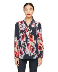 kate spade new york | Multicolor Hazy Floral Reade Blouse | Lyst
