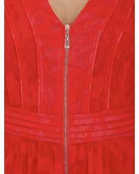 Cutie | Red Zip Detail Sleeveless Dress | Lyst