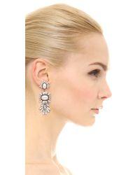 DANNIJO - Metallic Colby Earrings - Silver/Crystal/Pearl - Lyst