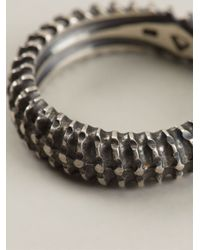 Vj By Vanni Pesciallo | Metallic 'backbone' Ring | Lyst