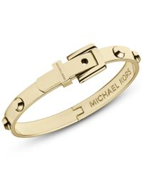 Michael Kors | Metallic Heritage Gold Astor Buckle Bangle | Lyst