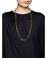 Iosselliani | Blue Stone Stud Chain Necklace | Lyst