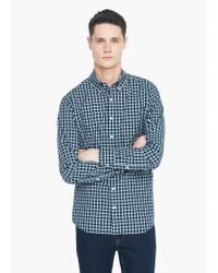 Mango | Green Slim-fit Gingham Check Shirt for Men | Lyst