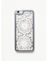 Free People | White Womens Crochet Iphone Case | Lyst