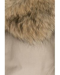 Woolrich - Natural Byrd Cloth Arctic Down Parka With Fur-trimmed Hood - Beige - Lyst