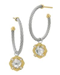 Charriol - Metallic White Topaz Cablehoop Earrings - Lyst
