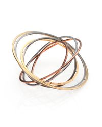Delfina Delettrez - Metallic Tourbillion Seven-circle Bangle Bracelet - Lyst