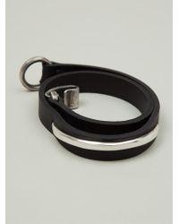 Werkstatt:münchen | Black 'm261' Bracelet | Lyst