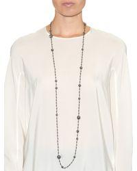 Bottega Veneta - Metallic Cubic-zirconia And Silver Necklace - Lyst