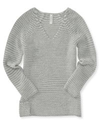 Aéropostale | Gray Long Sleeve V-neck Sweater | Lyst