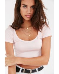 Truly Madly Deeply | Pink Layer Cake Cropped Tee | Lyst