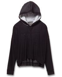 Alternative Apparel | Black Matchup Micro Mesh Hoodie | Lyst