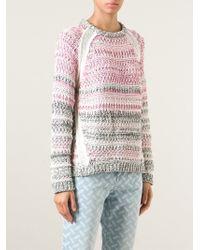 Lala Berlin - Pink Lieke Cotton-Blend Sweater - Lyst