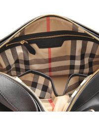 Burberry | Black Sm Alchester Horseferry Leather Bag | Lyst
