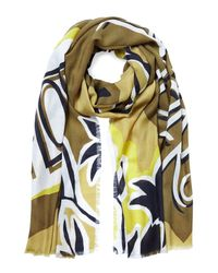 Burberry Prorsum | Landscapes Print Cashmere Scarf - Green | Lyst