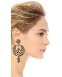 DANNIJO | Metallic Iva Earrings - Silver/Italian Tang | Lyst