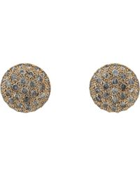 Roberto Marroni - Natural Grey Diamond Baby Sand Stud Earrings - Lyst