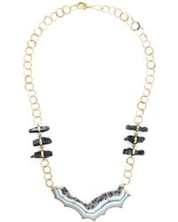 Melissa Joy Manning | Metallic Raw Hematite And Agate Necklace | Lyst