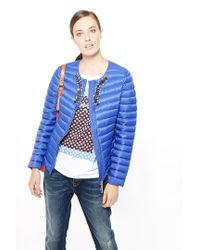 Liu Jo   Blue 'munich' Short Quilted Jacket   Lyst