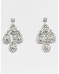 Nadri | Metallic Multi-Drop Crystal Chandelier Earrings | Lyst