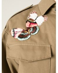 Valentino - Green Embroidered Army Jacket for Men - Lyst