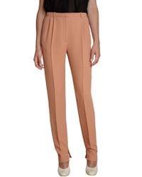 Chloé - Pink Highwaist Slim Pants - Lyst