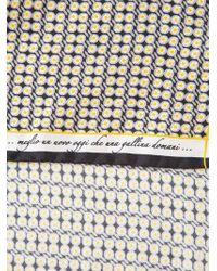 Fefe - Yellow Egg Print Pocket Square for Men - Lyst