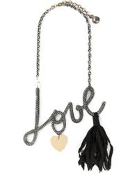 Lanvin | Metallic Love Necklace | Lyst