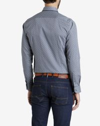 Ted Baker - Blue Tile Printed Shirt for Men - Lyst