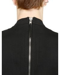 Rick Owens | Black Zipped Wool Canvas Jumpsuit for Men | Lyst