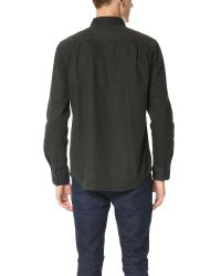 RVCA | Black Gravel Pit Long Sleeve Woven Shirt for Men | Lyst