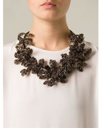 Night Market | Brown Beaded Chain Necklace | Lyst