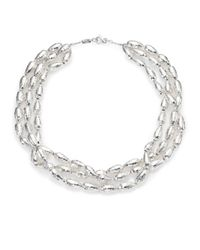 Ippolita | Metallic Glamazon Sterling Silver Uovo Bead Three-Strand Necklace | Lyst