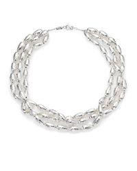 Ippolita - Metallic Glamazon Sterling Silver Uovo Bead Three-Strand Necklace - Lyst