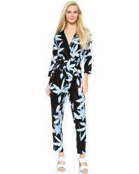 Whistles - Botanical Floral Jumpsuit - Black/Blue - Lyst
