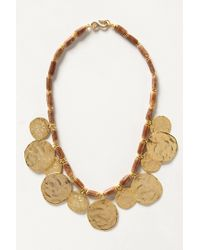 Anthropologie | Metallic Coinswood Necklace | Lyst