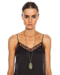 Ileana Makri - Green Pink Gold Shield Necklace  - Lyst
